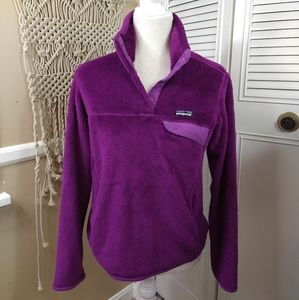 Patagonia purple pullover jacket fleece size small